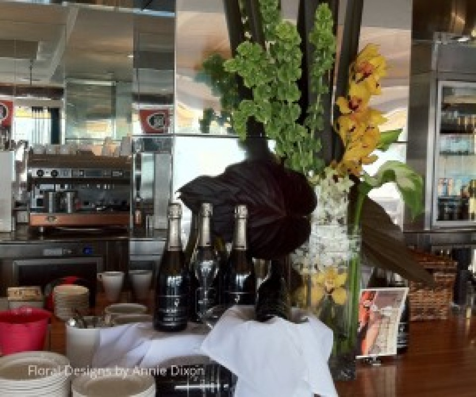 Bar decor for Melbourne Cup lunch