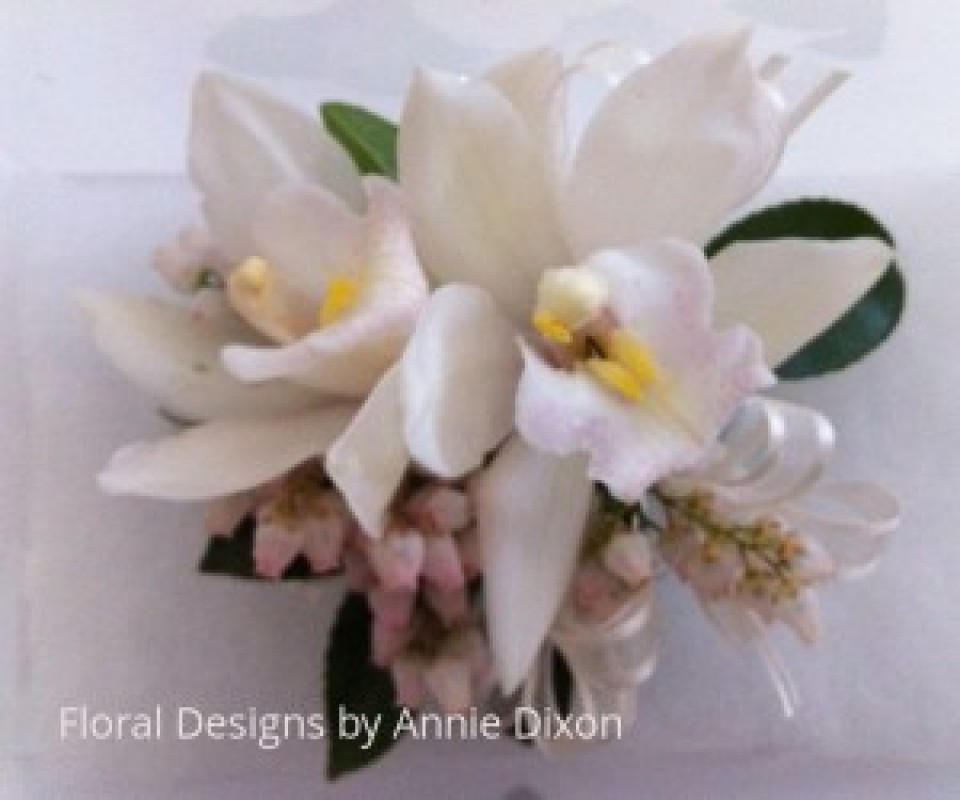 Cymbidium Orchids and Perris corsage