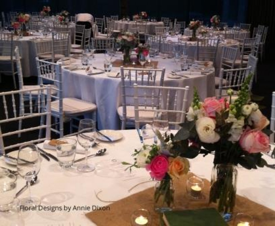 Vintage table arrangements at The Deckhouse