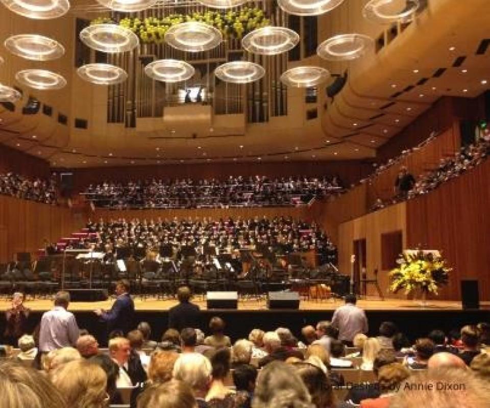 Sydney Opera House Concert Hall stage arrangement